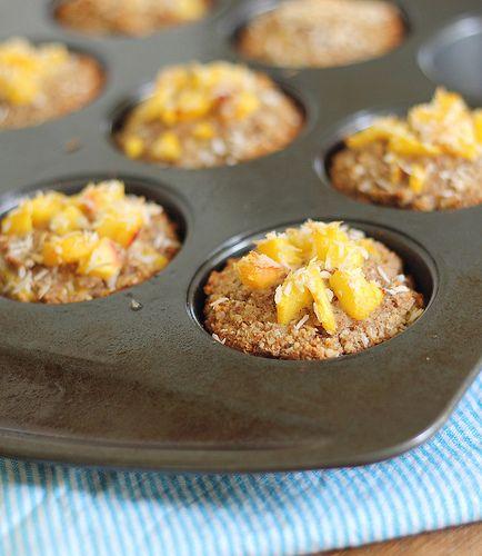 peach coconut almond flour muffins by Runningtothekitchen, via Flickr