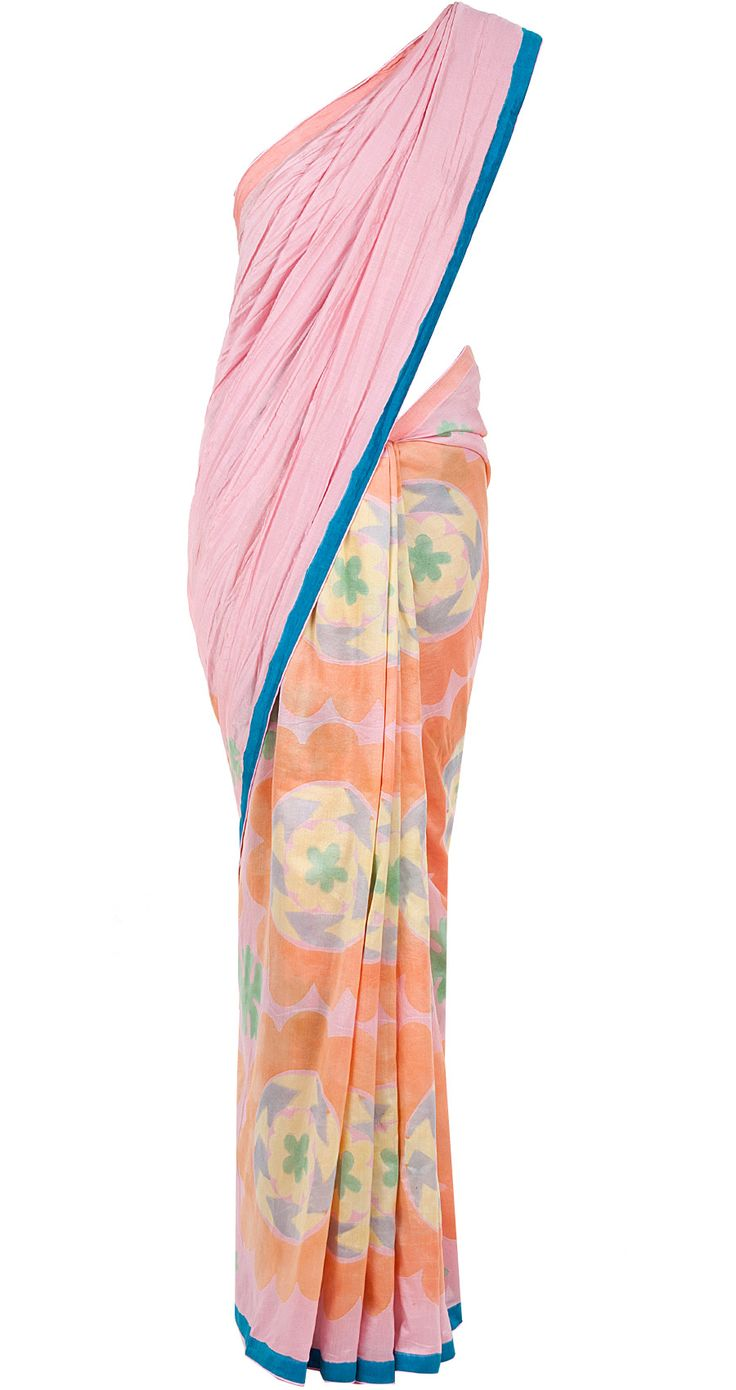 Pink printed sari available only at Pernia's Pop-Up Shop.