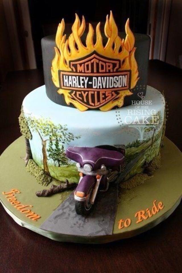 great cake harley davidson cakes pinterest