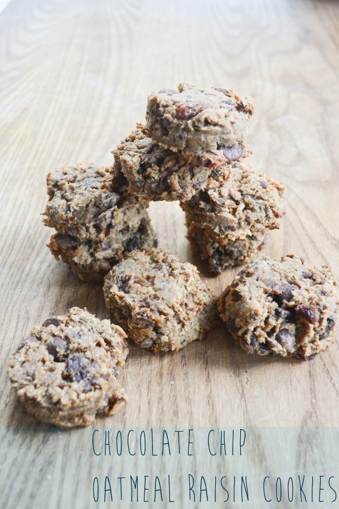 Chocolate Chip Oatmeal Raisin Cookies | Recipes | Pinterest