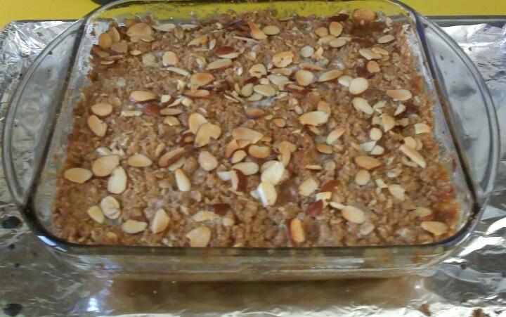 Caramel apple almond crisp (maple whiskey cream for drizzling not ...