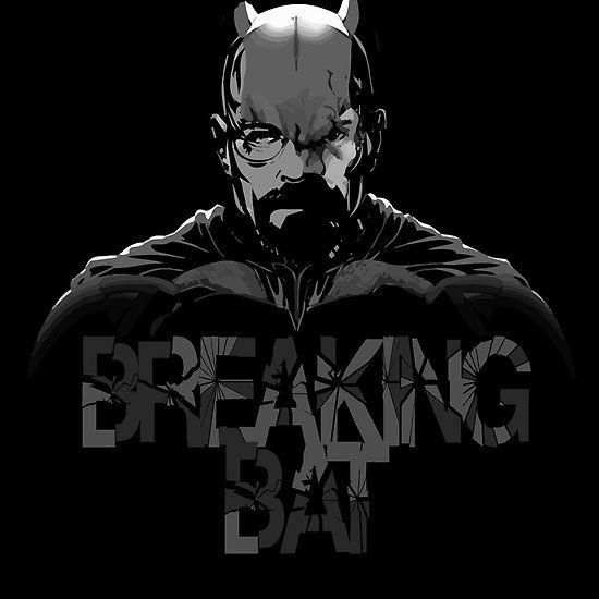 Breaking Bat : Available as Cards, Prints, Posters, T-Shirts & Hoodies, Kids Clothes, Stickers, iPhone & iPod Cases, and iPad Cases