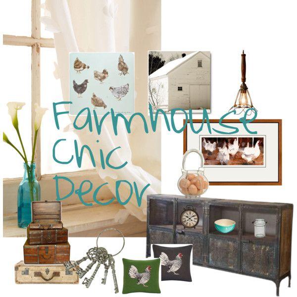 Farmhouse Chic Decor House Beautiful Pinterest