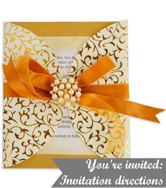 Golden invitations :) #diy #invite #wedding #shower