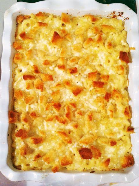 Martha Stewart's creamy mac and cheese. The BEST ever!