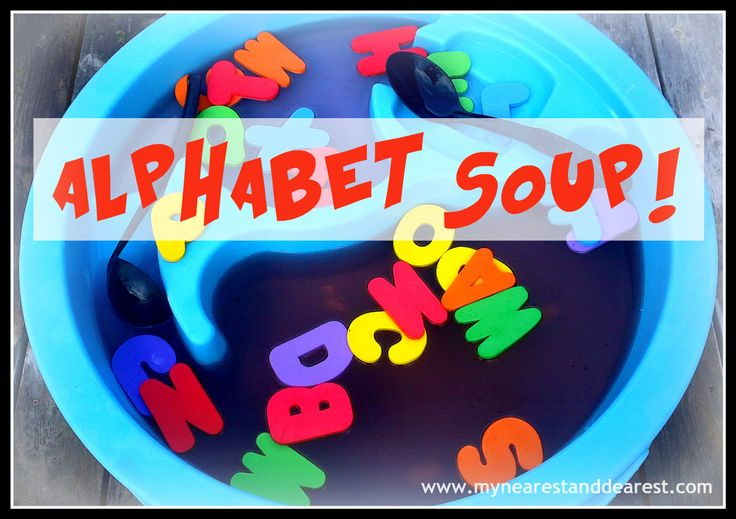 Alphabet soup! Great way to practice letter recognition and letter ...