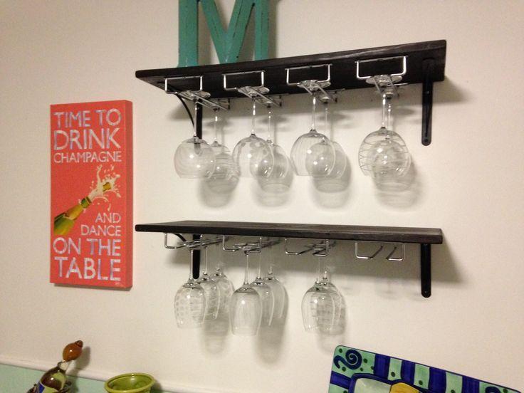 diy wine glass rack pinterest 3