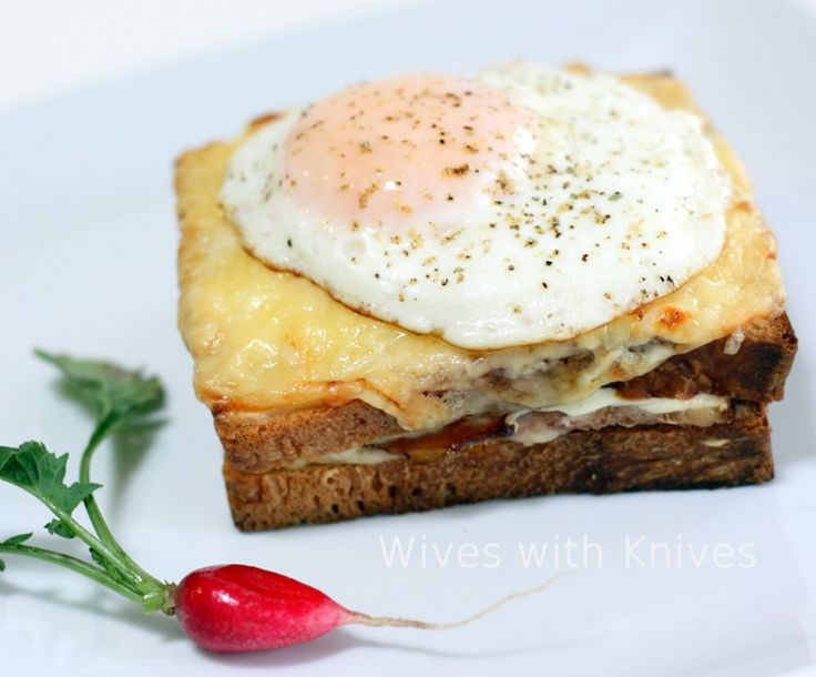 Croque Madame - the ultimate ham and cheese sandwich