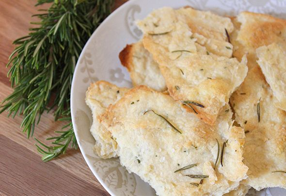Crisp Rosemary Flatbread | food and drink | Pinterest