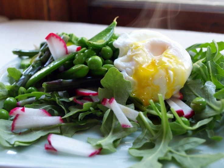 Simple Summer Salad with Michigan asparagus, zucchini, peas, radishes ...