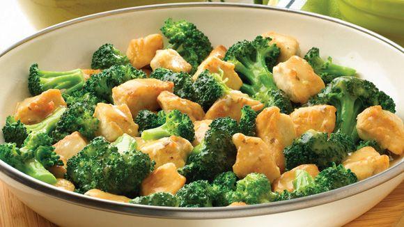 Broccoli, Chicken, And Almond Saute Recipe — Dishmaps