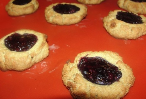 Peanut Butter and Jelly' Thumbprint Cookies