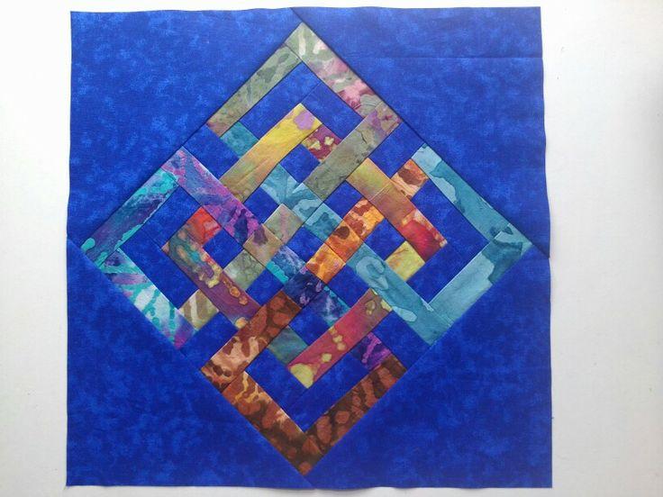 Interlocking squares quilt bock Quilt Ideas Pinterest