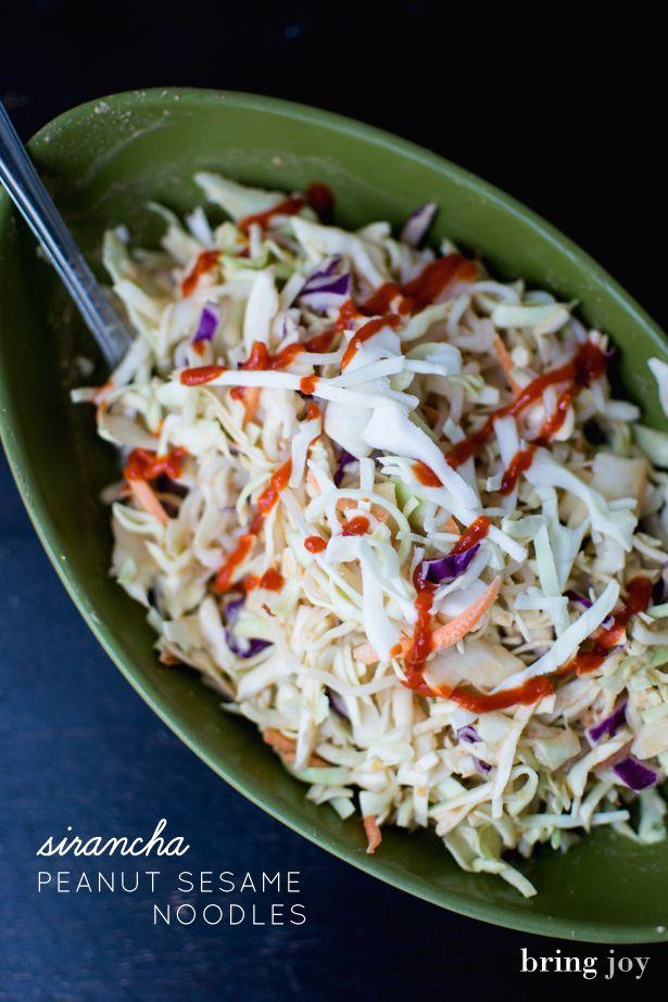 low-cal siracha peanut sesame noodles | less than 250 calories, vegan ...