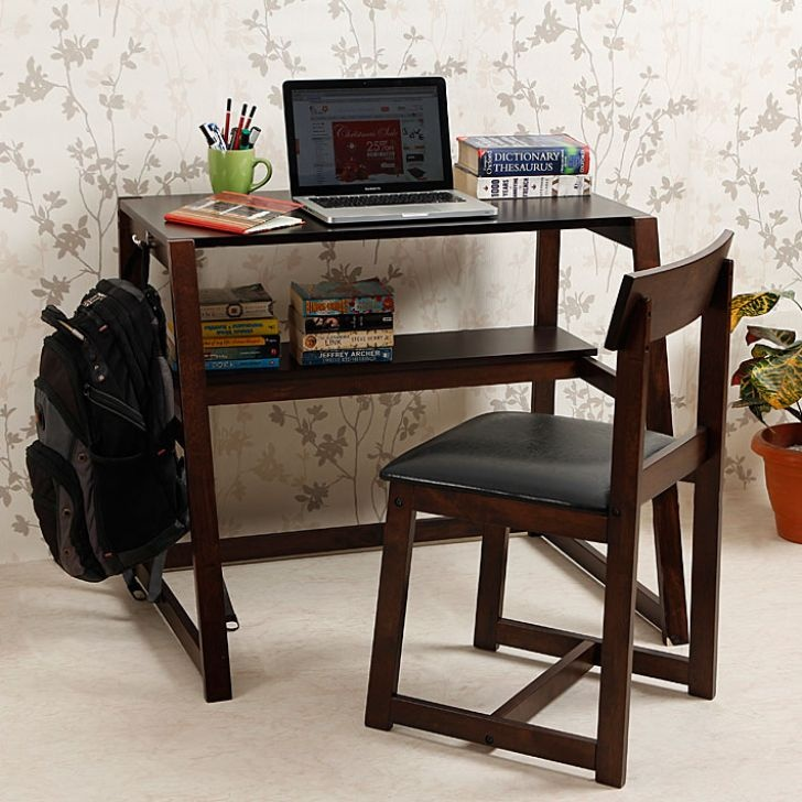 Study Table Chair Set : Fab Home Lucas Study Set of Two (Table With Chair),Office Desks ...