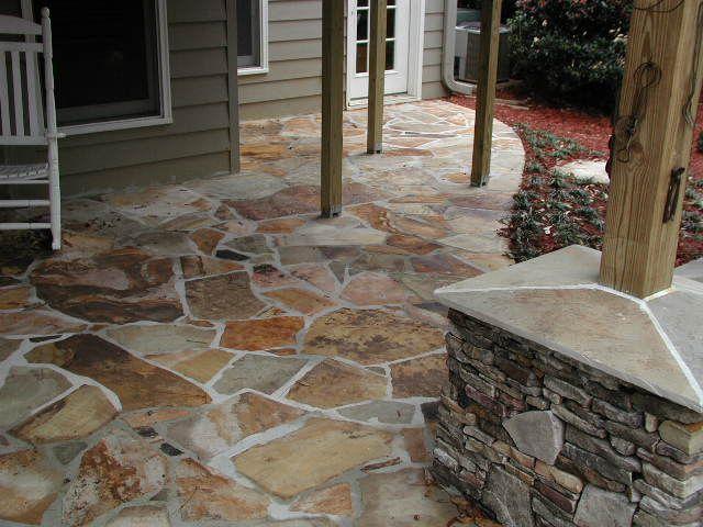 Stone Patio Landscape Ideas Pinterest