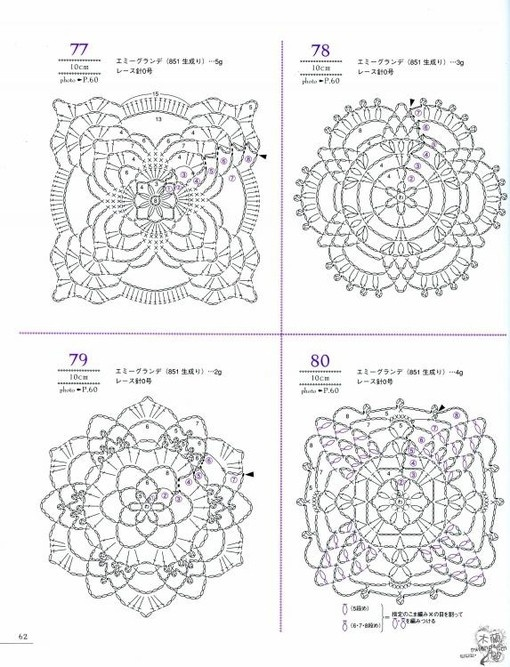Crochet Diagram : crochet diagram CROCHET - MOTIF - MIXED Pinterest