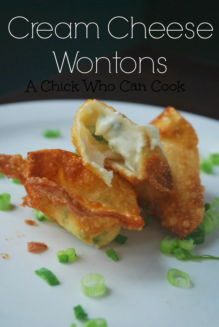 Cream Cheese Wontons | Appetizers | Pinterest