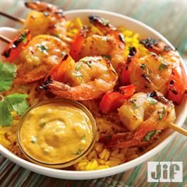 Grilled Curry Shrimp from Jif