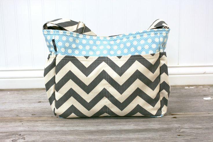 reserved for jennifer grey chevron and blue polka dot baby boy diaper bag t. Black Bedroom Furniture Sets. Home Design Ideas