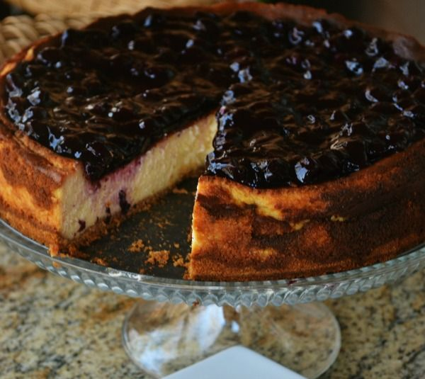 Lemon Cheesecake with Blueberry Topping | Delish Desserts | Pinterest