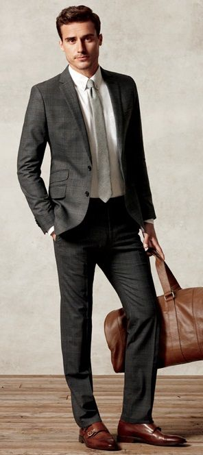 Charcoal grey wedding suits for