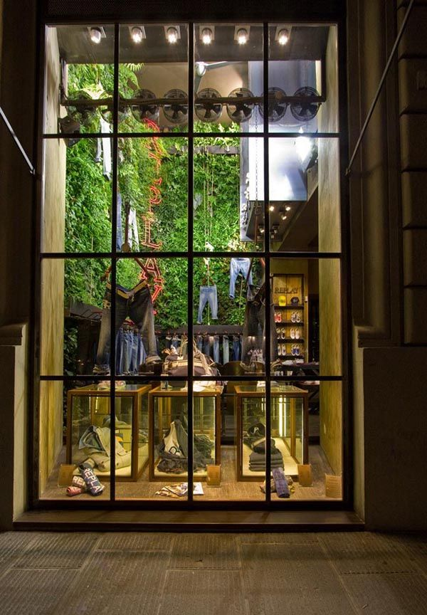 Green Retail Design for the Replay Store in Florence
