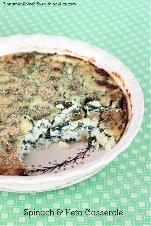 Spinach and Feta Casserole | Yummy in my Tummy | Pinterest