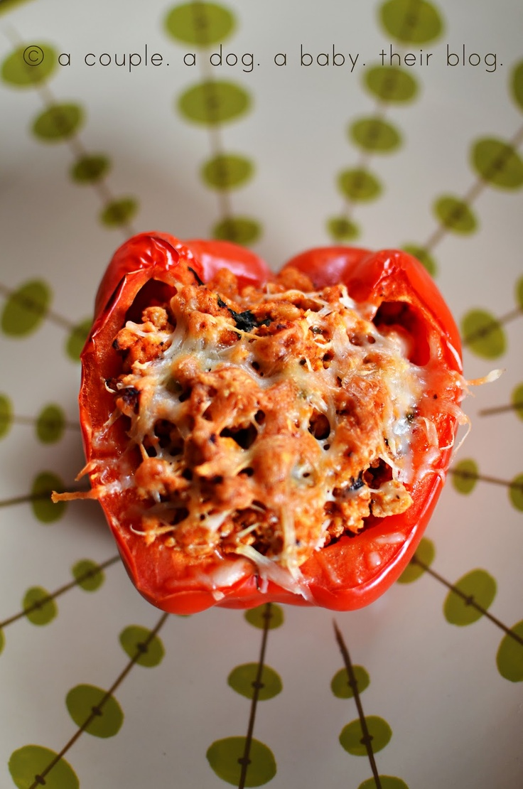 Italian Style Stuffed Red Peppers | If I Cooked... | Pinterest