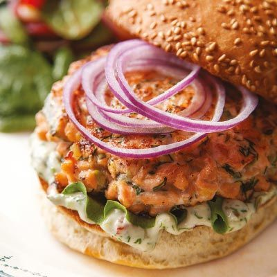 The Perfect Salmon Burger with Dill Tartar Sauce