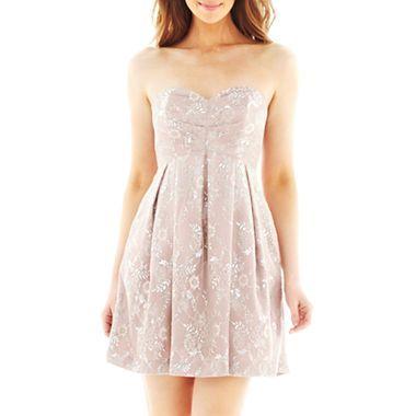 Strapless lace dress jcpenney dress pinterest