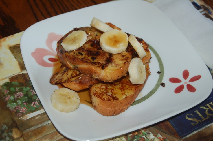 homebaked Nutella briaded bread made into french toasts. I used eggnog ...