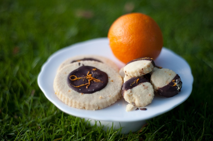Dark Chocolate Orange Shortbread | Baking Ideas: Cookies | Pinterest