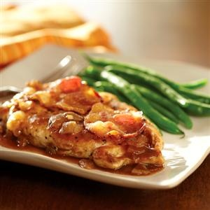 Cheddar Bacon Chicken with Apple Butter Sauce | Recipe