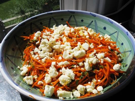 ... Monday – Carrot Salad with Harissa, Mint and Feta | Flavorista