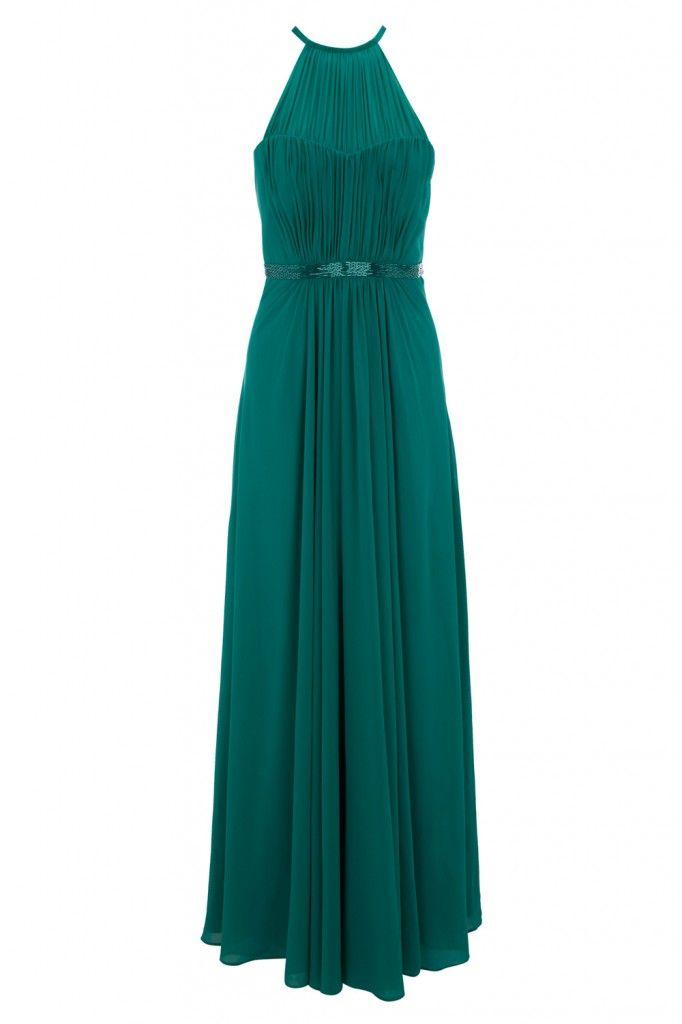 Benhaz Beaded Maxi Dress - this gorgeous dark emerald green maxi dress ...