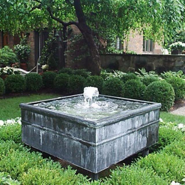 Garden Fountain Or Hot Tub Gardens Pinterest