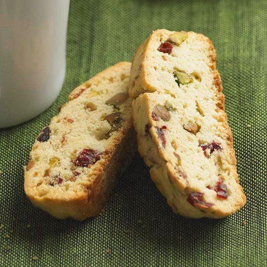 Cranberry-Pistachio Biscotti Recipe — Dishmaps