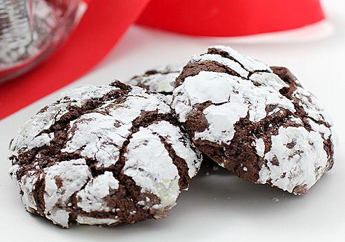 Mint chocolate crinkle cookies | FOOD | Pinterest