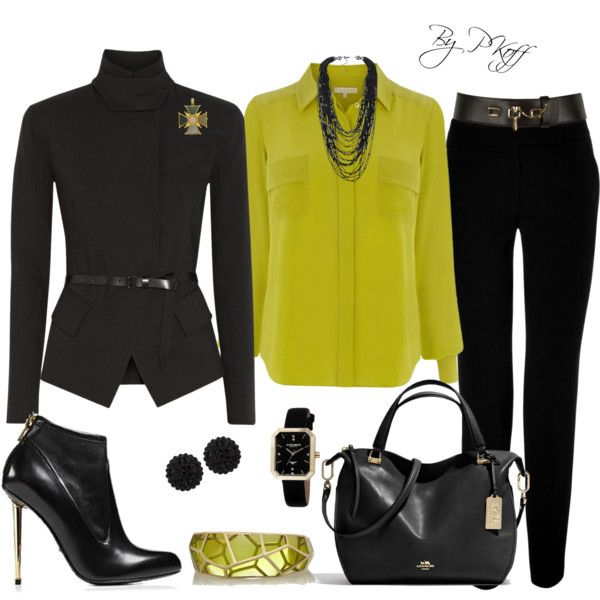 A fashion look from October 2014 featuring Wishbone tops, Donna Karan jackets and Steffen Schraut pants. Browse and shop related looks.
