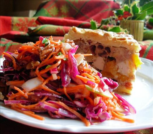 ... Day with Dazzling Winter Coleslaw ~ Red Cabbage, Apple and Pecan Salad