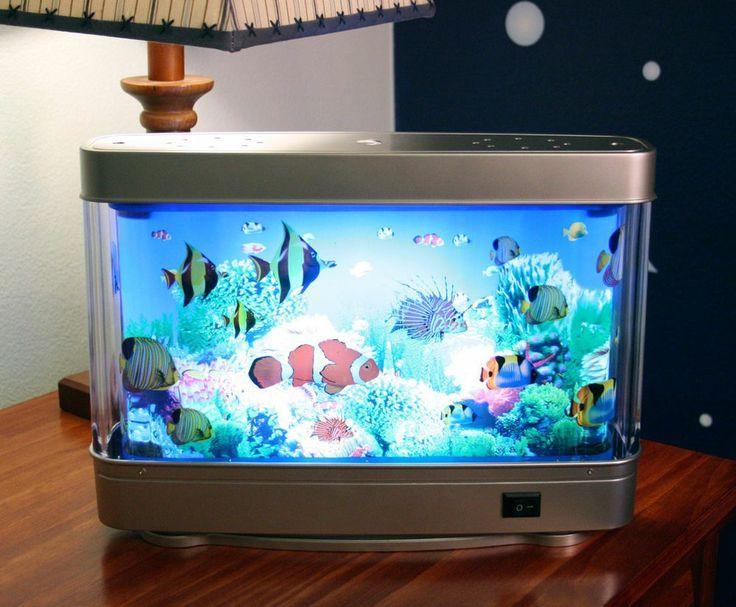 Fish aquarium night light aquarium motion fish lamp for Fish tank night light