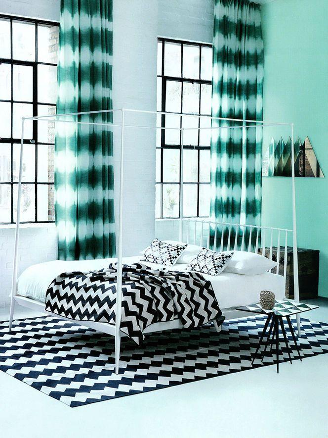 Quarto azul, preto e branco  Home  Pinterest