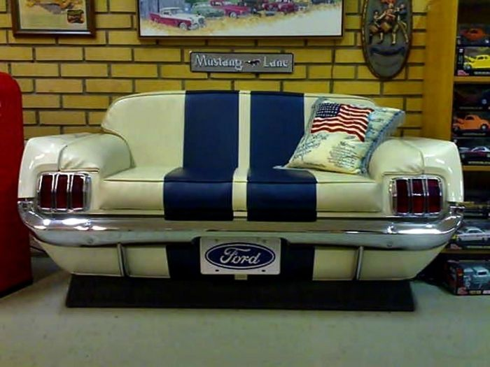 Ford Man Cave Decor : S mustang couch man cave pinterest