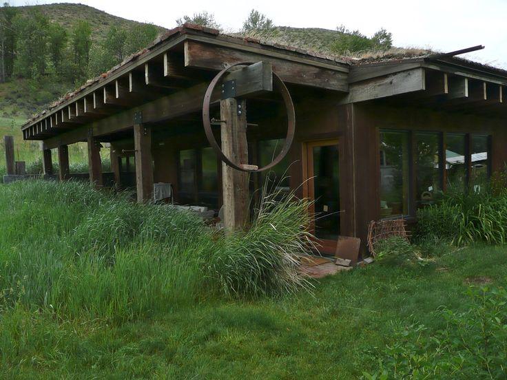 Earth bermed living roof exterior homes pinterest Earth bermed homes
