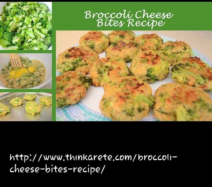 Broccoli Cheese Bites recipe | I Love to Cook! | Pinterest