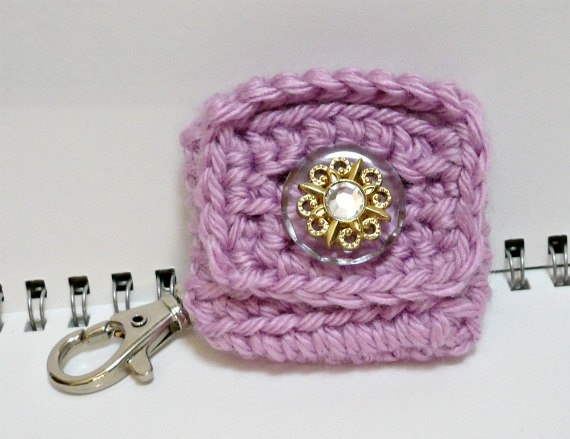 Crochet Quarter Keeper : Crochet Change Purse Key Holder Coin Pouch with by MelbaShoppe. $8.00 ...