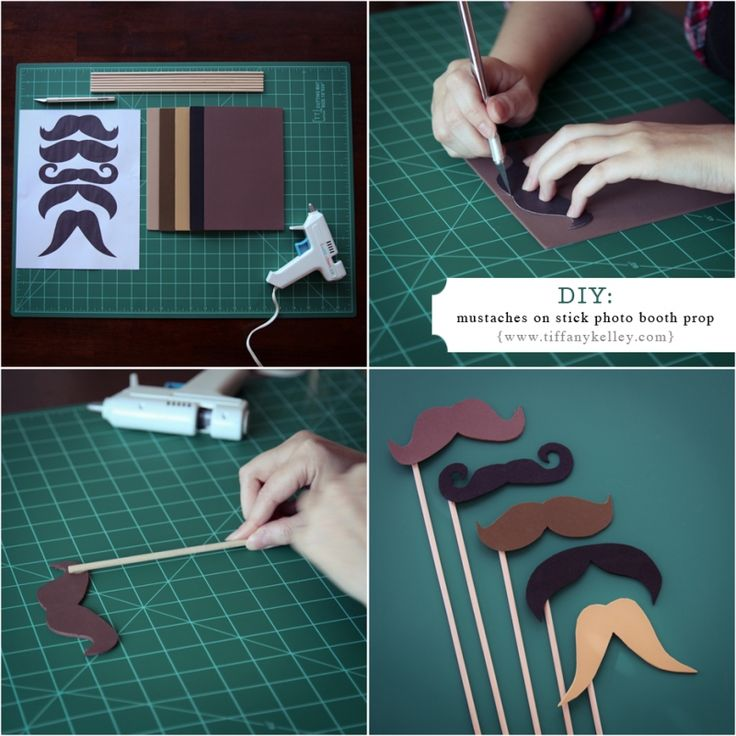 DIY Mustaches on a stick for photo booth