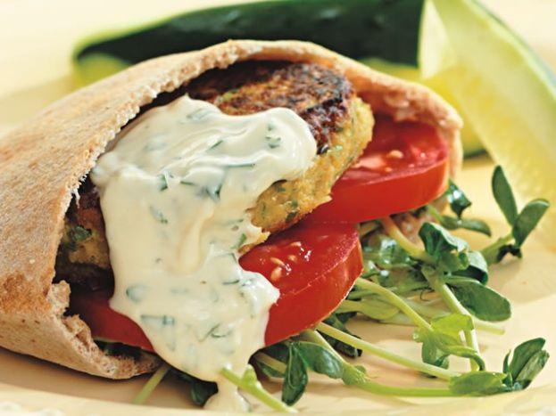 Chickpea Burgers & Tahini Sauce | Healthy | Pinterest