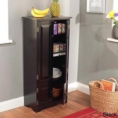 Tall Kitchen Cabinet Food Pantry Storage Dining Shelf Dorm Organizer